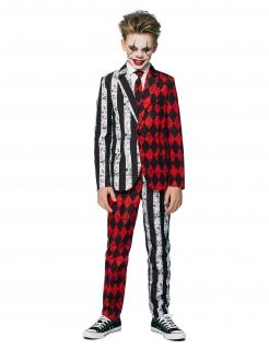 Mr. Twisted Circus-Kostüm für Jugendliche Halloween-Kostüm Opposuits™ schwarz-weiss-rot