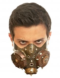 Steampunk-Gasmaske für Erwachsene bronzefarben