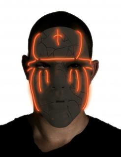 Verbrannte LED-Maske für Erwachsene schwarz-rot
