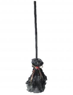 Besessener Hexenbesen für Halloween schwarz 74 x 15 x 15 cm