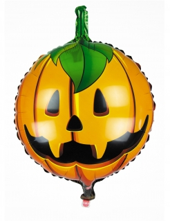 Happy Halloween Kürbis-Ballon orange 45 cm