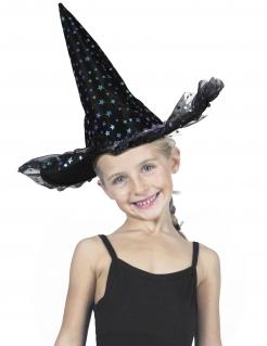Deluxe Hexenhut für Kinder bunt