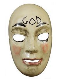 Offizielle The Purge™-Lizenzmaske GOD für Erwachsene beigefarben-schwarz-rot