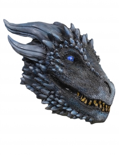 Game of Thrones™Drachenmaske von Viserion™ grau-blau