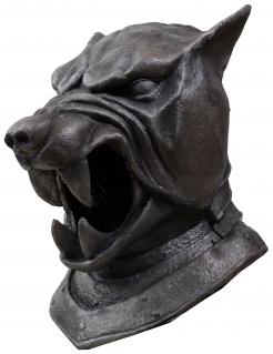 Sandor Clegane™-Vollmaske für Erwachsene grau 35 cm