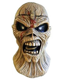 Iron Maiden™-Maske Piece of mind Horror-Maske beige-schwarz