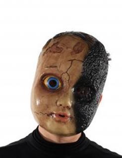 Verbrannte Charlie-Maske Horrorpuppe bunt