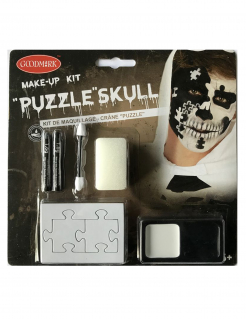 Halloween-Make-up Puzzle schwarz-weiss