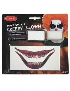 Make-up-Set Horror-Clown-Make-up weiss-schwarz-rot