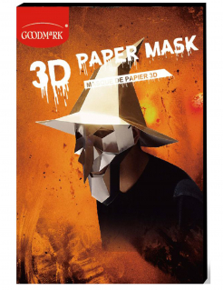 3D-Hexenmaske zum selber basteln Halloween-Maske silber