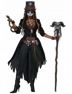 Voodoo-Kostüm für Damen Dunkle Magierin bunt