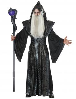 Dunkler Magier Halloween-Kostüm für Herren schwarz