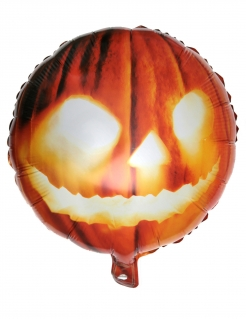 Halloween Kürbis-Aluballon orange 35 x 18 cm