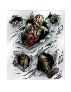 Zombie-Wandposter bunt 152 x 182 cm