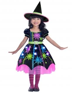 Spinnenhexen-Kostüm für Kinder bunt