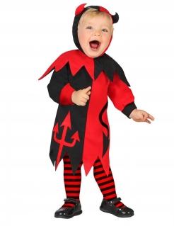 Teufelkostüm für Babys schwarz-rot