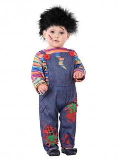 Böses Horrorpüppchen Halloween-Kinderkostüm bunt