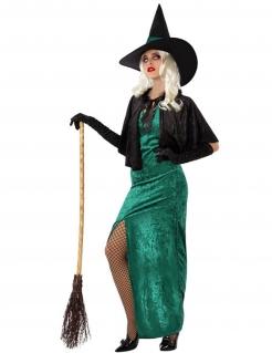 Sexy Hexenkostüm für Frauen schwarz-grün
