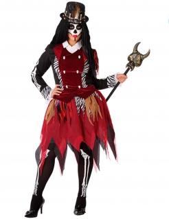 Voodoo-Hexe Damenkostüm bunt