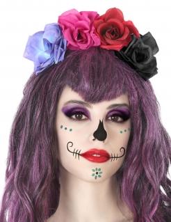 Rosen-Haarreif für Damen Dia de los Muertos bunt