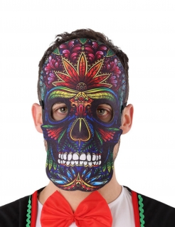 Dia de los Muertos Halbmaske für Erwachsene bunt