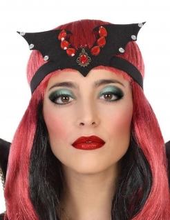 Fledermaus-Haarband für Damen schwarz-rot