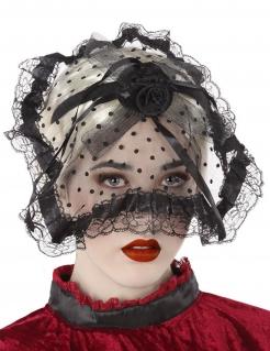 Schwarze Witwe Haarband für Halloween schwarz