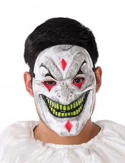 Psychoclown-Maske für Erwachsene bunt