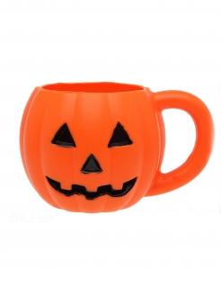 Halloween-Kürbisbecher orange-schwarz 10 x 8,5 cm
