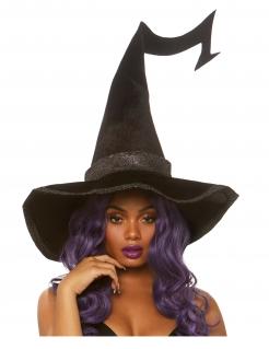 Hoher Hexenhut für Damen schwarz
