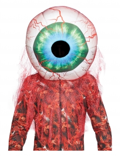 Blutiges Riesen-Auge Maske Horror-Maske Halloween bunt