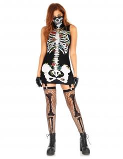 Tag der Toten Kostüm für Damen bunt