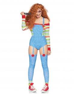 Killerpuppen-Kostüm für Damen bunt