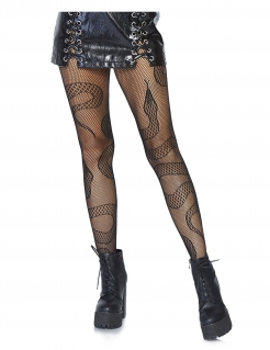 Netzstrumpfhose Schlange Halloween-Accessoire schwarz