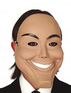 Psycho-Maske für Erwachsene hautfarben-schwarz-weiss