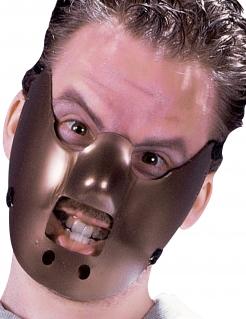 Kannibalen-Gesichtsmaske braun