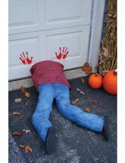 Geköpfter Leichnam Halloween-Dekoration blau-rot