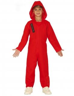 Bankräuber-Kinderkostüm Halloween-Kostüm rot-schwarz