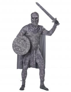 Versteinerter Krieger Statuen-Kostüm für Herren grau
