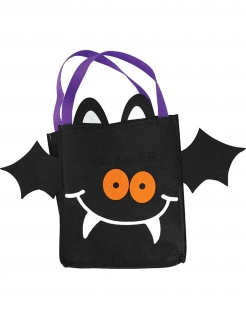 Halloween-Süßigkeiten-Tasche Fledermaus-Beutel für Kinder schwarz
