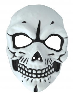 Totenschädel-Maske für Erwachsene schwarz-weiss