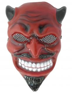 Halloween-Teufelsmaske rot-schwarz-weiss