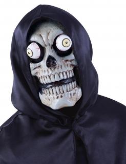 Skelett-Maske für Erwachsene weiss-schwarz-gelb