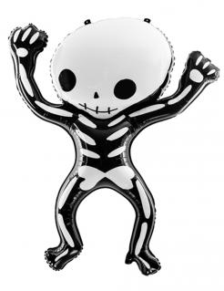 Skelett-Ballon Halloween-Folienballon 84 x 10 schwarz-weiß