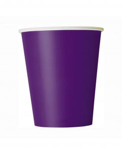 Halloween-Pappbecher 8 Stück violett 266 ml