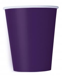 Halloween-Becher 14 Stück violett 266 ml