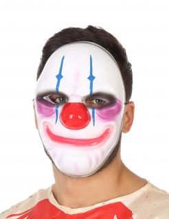 Clownsmaske mit Horror-Lächeln bunt