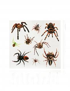 Eklige Spinnen-Tattoos Halloween Make-up 9-teilig braun