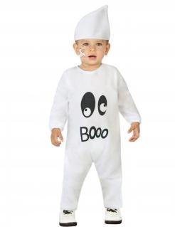 Baby Geister-Kostüm für Halloween weiss-schwarz
