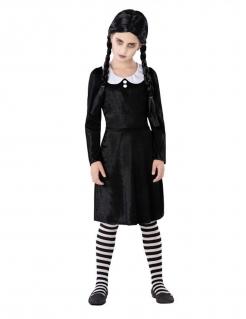 Gothic-Kostüm für Mädchen Film-Kostüm schwarz-weiß